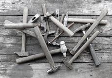 Pile de marteaux Photographie stock