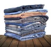 Pile de mensonge de jeans image stock