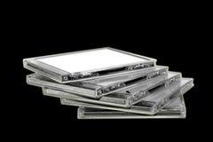 Pile de mini disques de DVD photographie stock