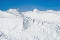 Pile de neige Photographie stock libre de droits