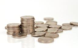 Pile de nickels images libres de droits
