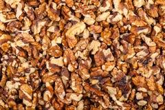 Pile de noix écrasée Images libres de droits