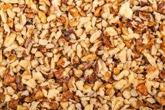 Pile de noix écrasée Photo stock