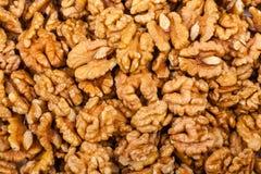 Pile de noix entière Images libres de droits