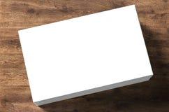 pile de nom de cartes vierges Photographie stock libre de droits