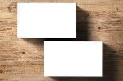 pile de nom de cartes vierges Images libres de droits