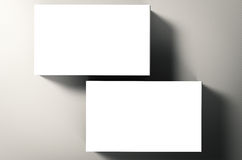 pile de nom de cartes vierges Image libre de droits