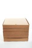 Pile de nouvelles boîtes à pizza Images libres de droits