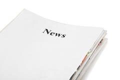 Pile de nouvelles de journaux Images stock