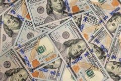 Pile de nouvelles factures de dollar US de conception comme fond Point de vue supérieure photographie stock