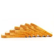 Pile de pain grillé Photo stock