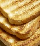 Pile de pain grillé cuit au four frais Image stock