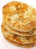 Pile de pain naan Photographie stock libre de droits