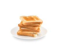 Pile de pains grillés Images stock