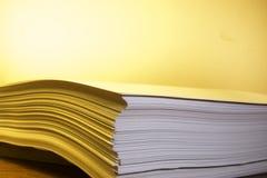 Pile de papier Images libres de droits