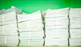 Pile de papier Images stock