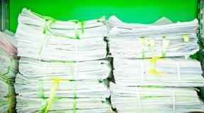 Pile de papier Photographie stock
