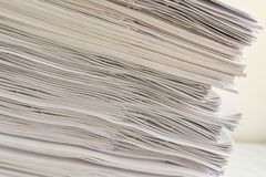 Pile de papier Photo stock