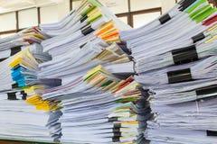 Pile de papier de rapport de gestion Photographie stock libre de droits