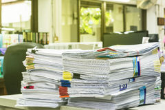 Pile de papier de rapport de gestion Photo libre de droits