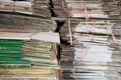 Pile de papier utilisé photo stock