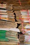 Pile de papier utilisé image libre de droits