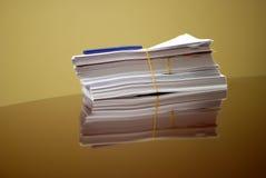 Pile de papiers Photographie stock libre de droits