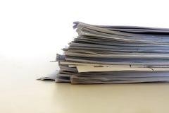 Pile de papiers Photo stock