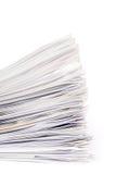 Pile de papiers Photos libres de droits