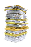 Pile de papiers Photographie stock