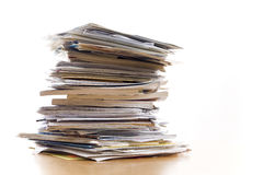 Pile de papiers Photo libre de droits