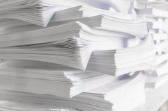 Pile de papiers Image libre de droits