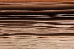 Pile de papiers bruns Photographie stock