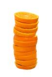 Pile de parts oranges photos stock