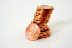 pile de penny Photographie stock