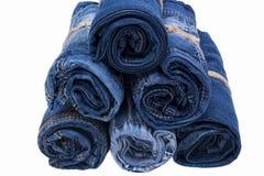 Pile de petit pain de jeans Photos libres de droits