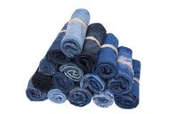 Pile de petit pain de jeans Images stock