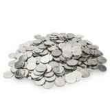 Pile de petites pièces de monnaie Images stock