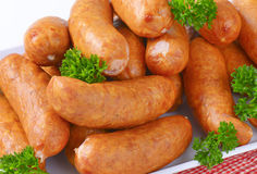 Pile de petites saucisses Photo libre de droits