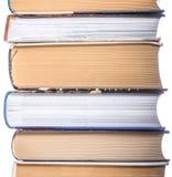 Pile de photo de plan rapproché de livres Photographie stock libre de droits