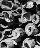 Pile de photo unique de matériaux en bambou image stock