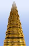 Pile de pièce de monnaie Photos libres de droits