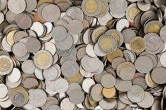 Pile de pièce de monnaie thaïlandaise Image stock