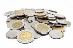 Pile de pièce de monnaie thaïlandaise Photo stock