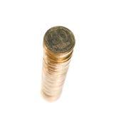 Pile de pièces de monnaie. Photo stock