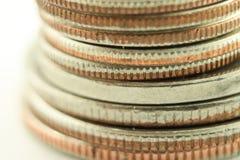 Pile de pièces de monnaie Photo stock
