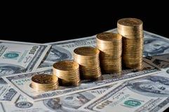 Pile de pièces de monnaie Images stock