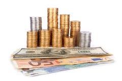 Pile de pièces de monnaie Image libre de droits