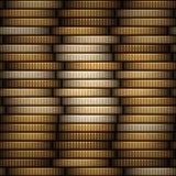 Pile de pièces de monnaie Photos stock
