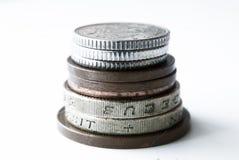 Pile de pièces de monnaie anglaises Image stock